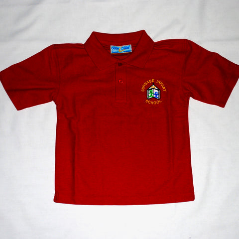 Burbage Infants Polo (Red) - Swifts Uniforms