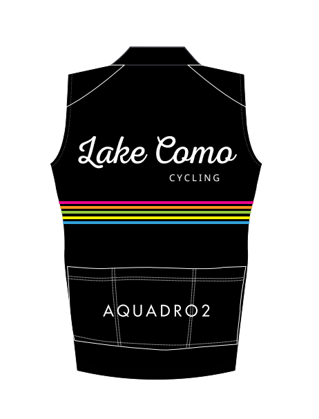 "Lake Como Cycling ""Classic"" Multi-Color Stripped Wind Vest - lakecomocycling.com"