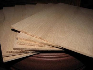 "Red Oak Board @<br>1/8"" x 9"" x 16"""