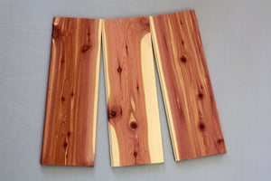 "Aromatic Red Cedar Board @<br>3/8"" x 9"" x 24"""