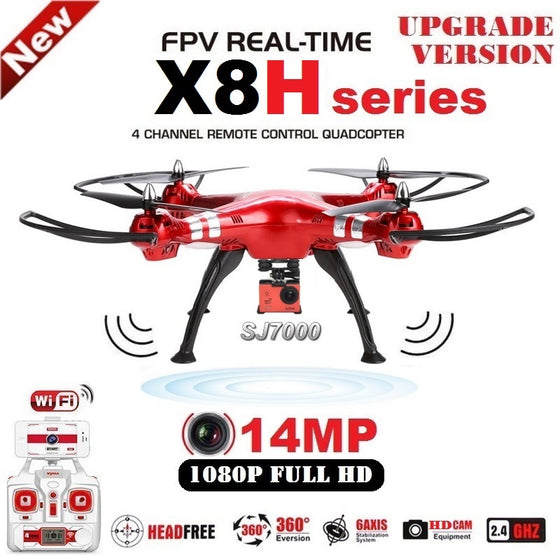 SYMA X8HG X8HW Professional Quadcopter Drone 2.4G 6 Axis FPV With SJ7000 14MP 1080p HD WiFi Camera