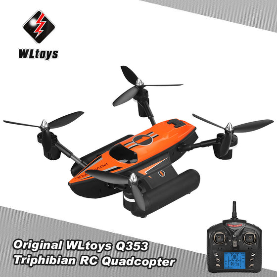 WLtoys Q353 Triphibian 2.4G 6-Axis Gyro Air-Ground-Water RC Professional Quadcopter
