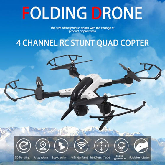 Mini Quadcopter Foldable Altitude Hold w/HD Camera Drone SY X33  WIFI FPV RC
