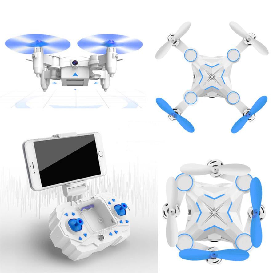 M1 Mini Foldable 2.4G 4CH 6Axis RC A key return Quadcopter Drone HD FPV 3MP Headless Drone toys