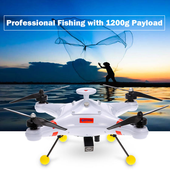 Waterproof Professional Fishing RC Quadcopter Drone Poseidon-480 Brushless 5.8G 700TVL Camera Drone FPV GPS