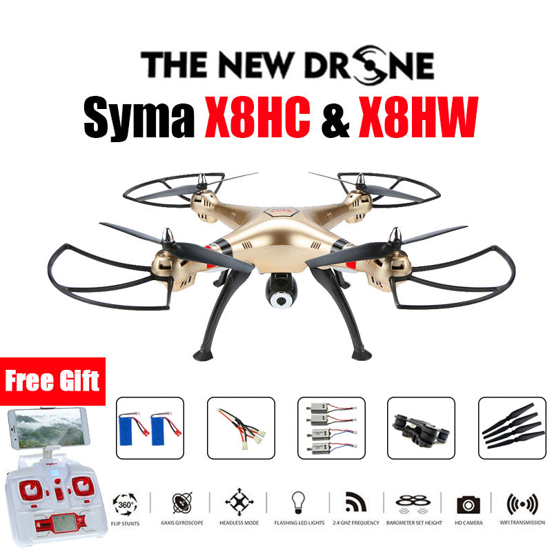 SYMA X8HW & X8HC FPV RC Drone 6-Axis Professional  Quadcopter Altitude Hold 2MP Or WiFi Camera