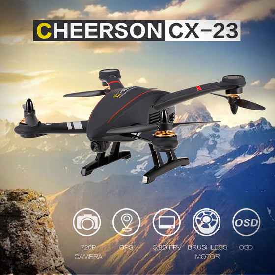 CHEERSON CX-23 5.8G FPV 2.0MP Camera GPS Professional Quadcopter OSD Circle Surround Height Hold