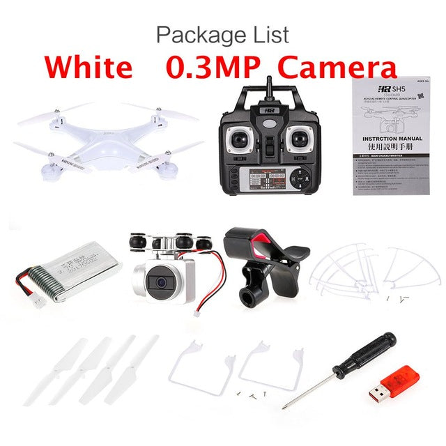 2.4G 1080P Camera Drone Professional Wifi FPV Height Hold Real-time Transmission Video RC Quadcopter