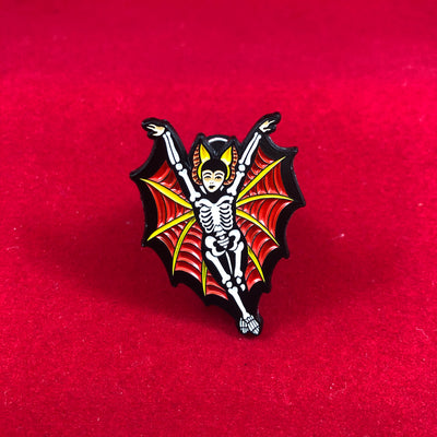 Bat Girl Pin (Glow in the Dark)