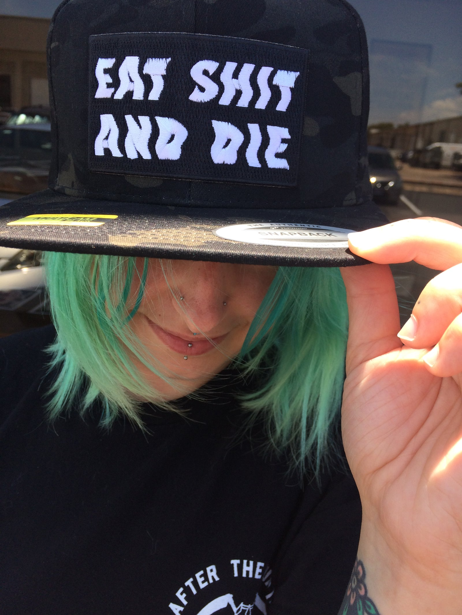 Camo Eat Shit & Die Snapback