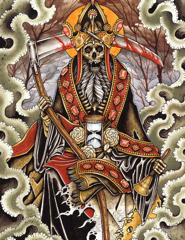 Derek Noble - Grim Clown (Watercolor)