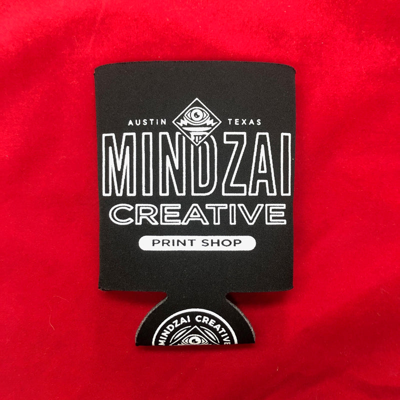 Mindzai Creative Print Shop Koozie - Black