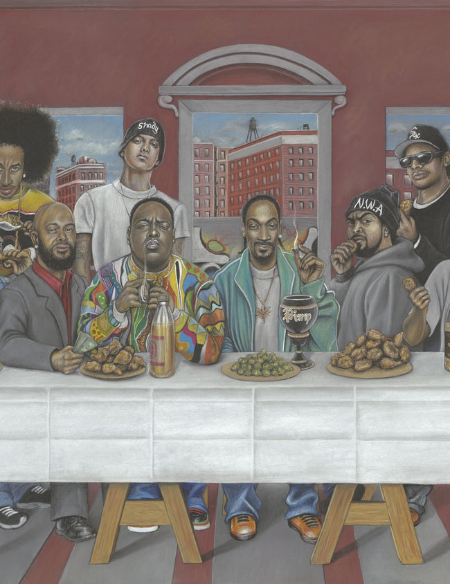 Janis Fowler - Rap's Last Supper (Giclée)