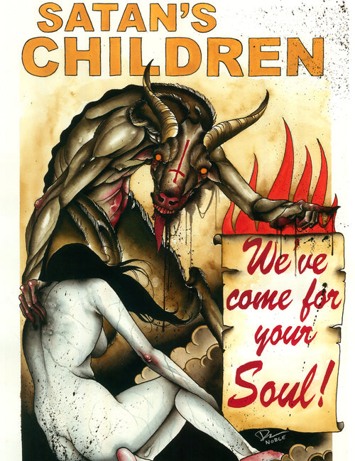 Derek Noble - Satan's Children (Watercolor)