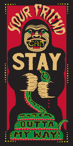 Mike Barker 15x30 Gicl 233 E Print Stay Outta My Way
