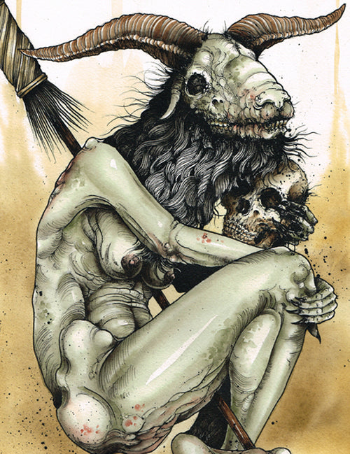 Derek Noble - The Witch & Priest (Watercolor)