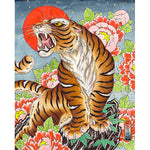 "Kelly Edwards - ""Tiger with Peonies"""
