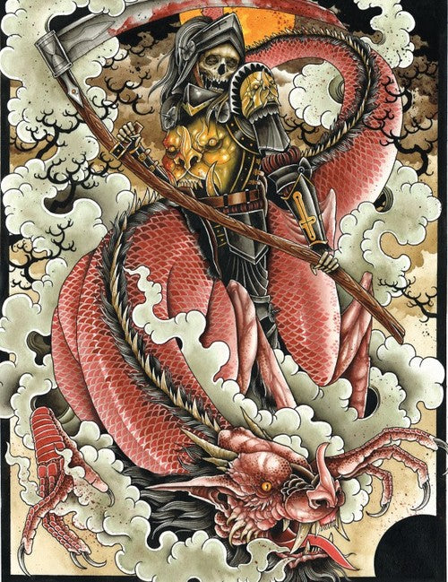 Derek Noble - Death & the Dragon (Watercolor)