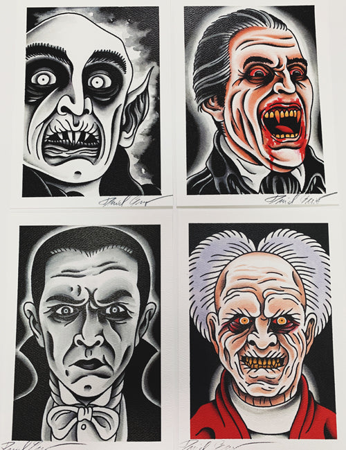 Dan Gagnè - The Greatest Draculas: Set Of 4 (Watercolor)