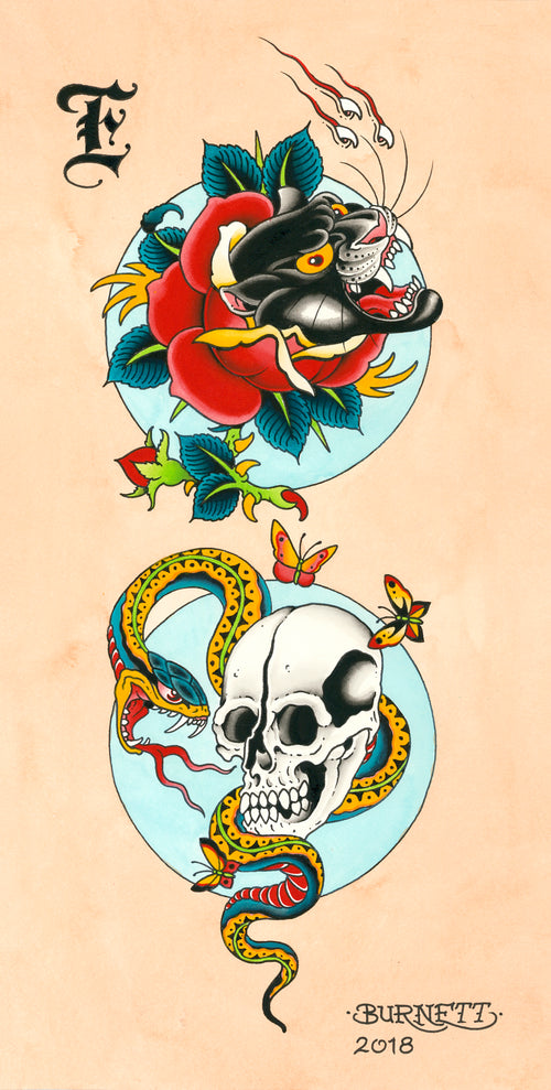 "Devin Burnett - ""Panther, Snake And Skull"""