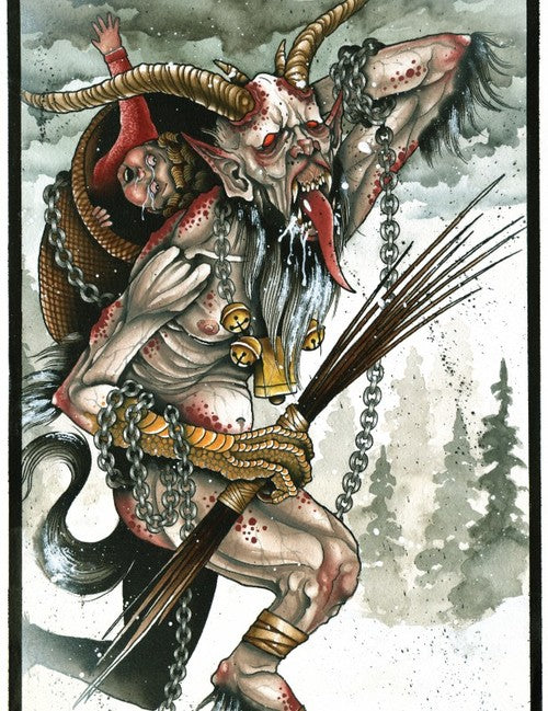 Derek Noble - Krampus (Watercolor)