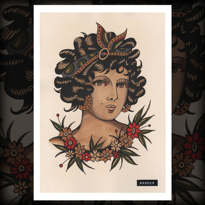 "Aaron Breeze - ""Woman"" Print (Watercolor)"