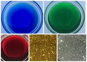 Christmas Multi-Pack - Water Soluble Dyes (FDA) & BioGlitter