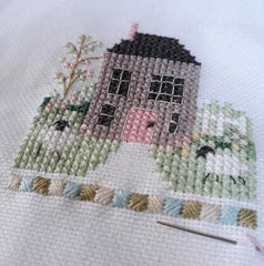 """Hello Spring!"" Installment 1 - stitching and photo by Barbara Lutomirska"