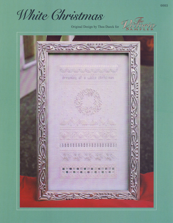 The Victoria Sampler - White Christmas Sampler Leaflet  - needlework design company
