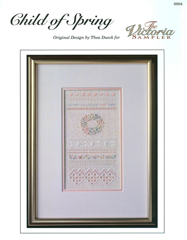 The Victoria Sampler - Child of Spring Sampler Leaflet  - needlework design company