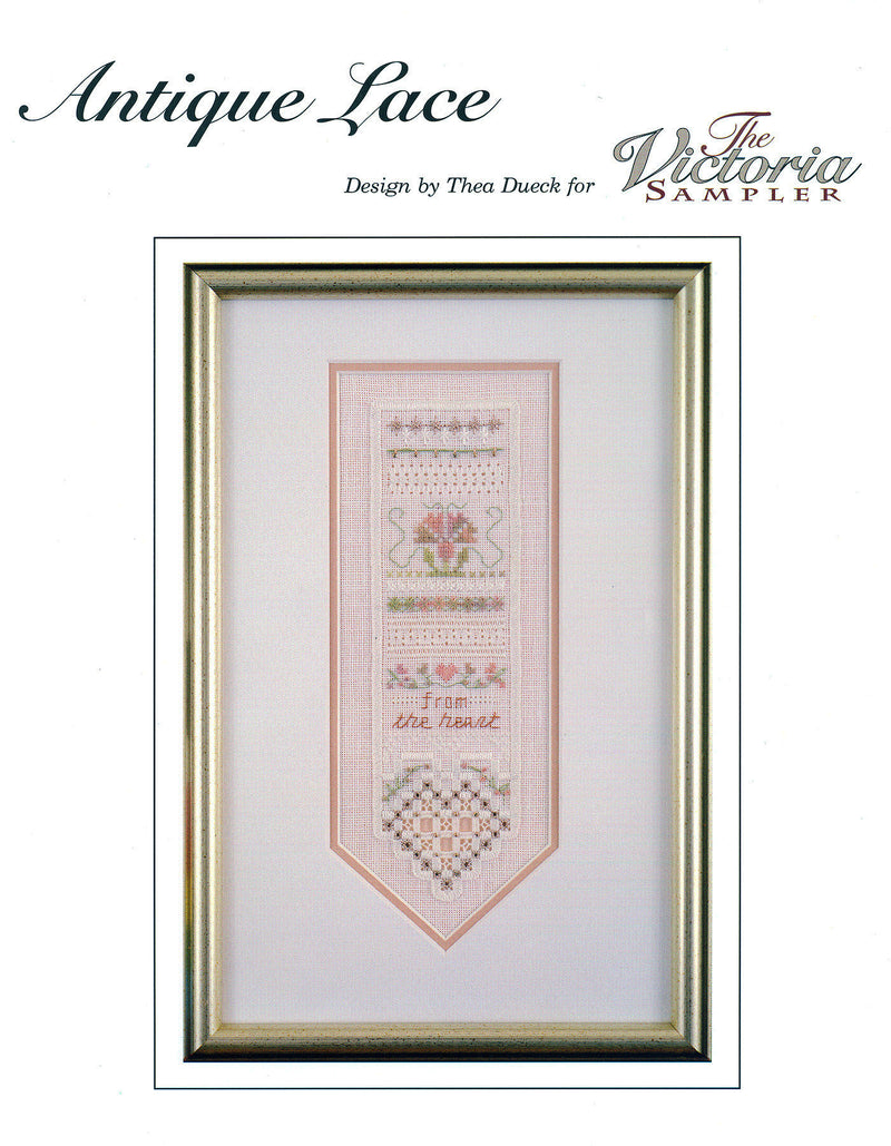 The Victoria Sampler - Antique Lace Sampler Leaflet  - needlework design company