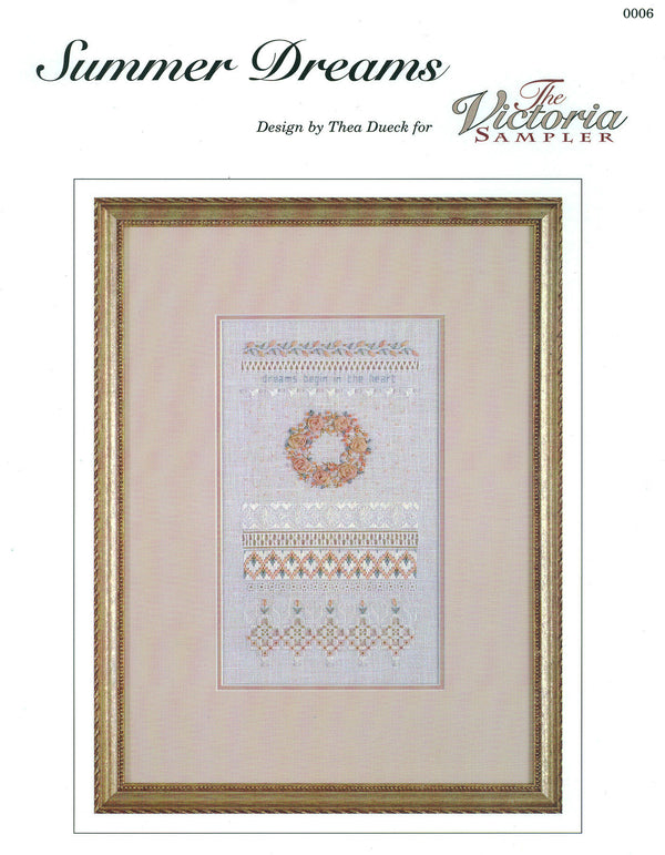 The Victoria Sampler - Summer Dreams Sampler Leaflet  - needlework design company