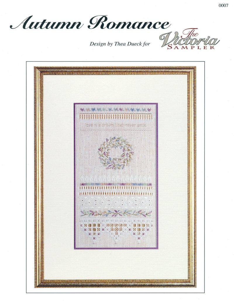 The Victoria Sampler - Autumn Romance Sampler Leaflet  - needlework design company
