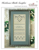 The Victoria Sampler - Heirloom Birth Sampler Leaflet  - needlework design company