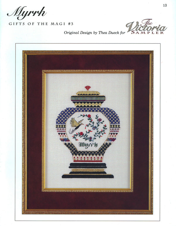 The Victoria Sampler - Myrrh Sampler Leaflet  - needlework design company