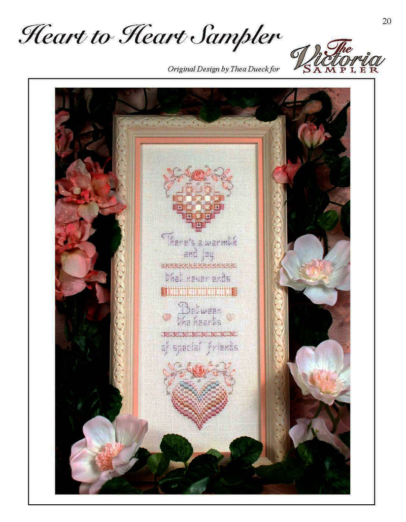 The Victoria Sampler - Heart to Heart Sampler Leaflet  - needlework design company
