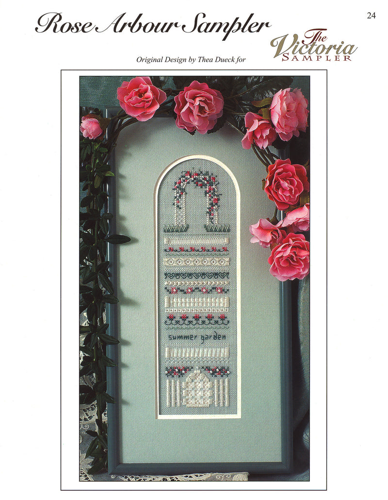 The Victoria Sampler - Rose Arbour Sampler Leaflet  - needlework design company