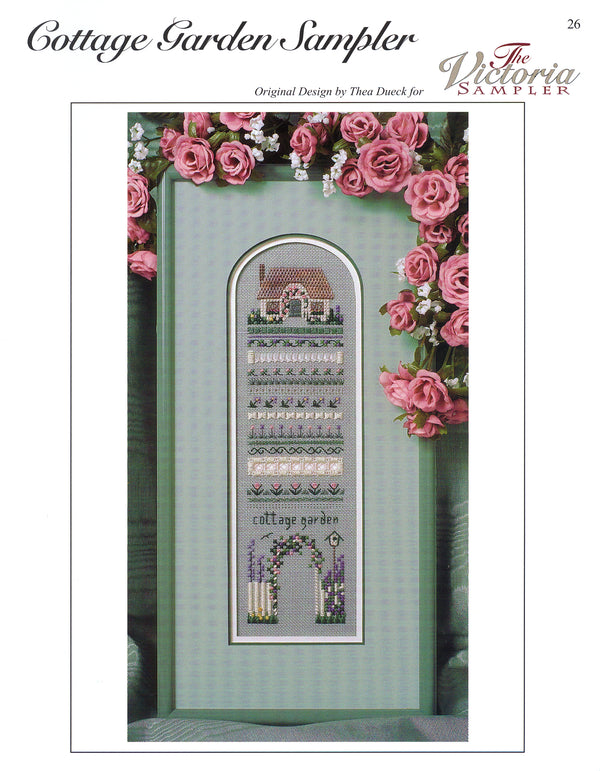 The Victoria Sampler - Cottage Garden Sampler Leaflet  - needlework design company