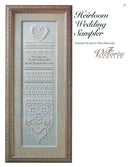 The Victoria Sampler - Heirloom Wedding Sampler Leaflet  - needlework design company