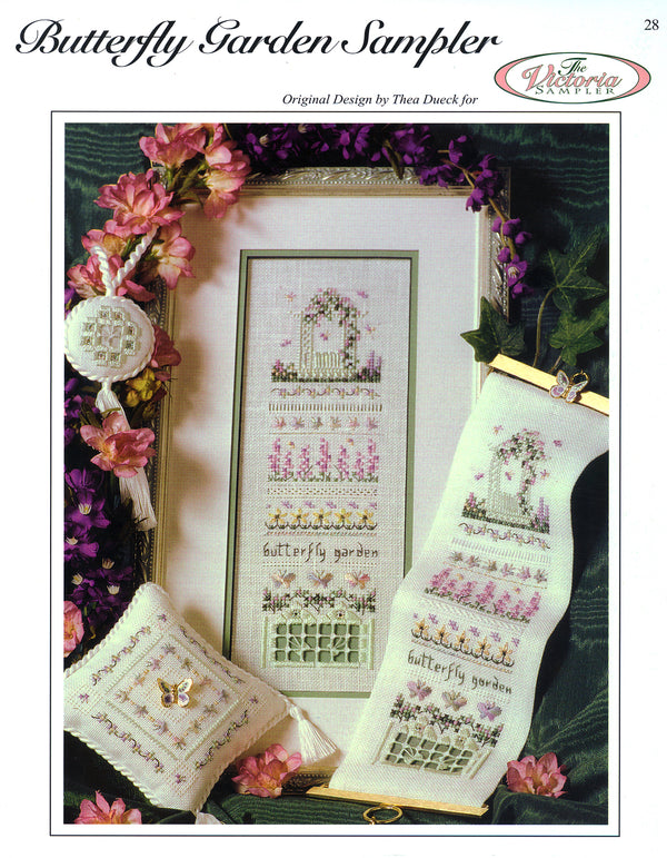 Butterfly Garden Sampler Leaflet - Part Three - Victorian Garden Series