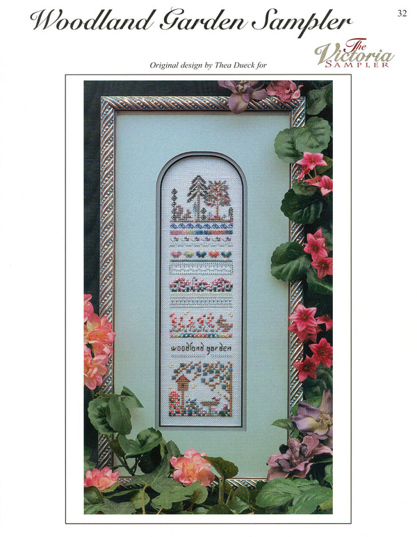 The Victoria Sampler - Woodland Garden Sampler Leaflet  - needlework design company