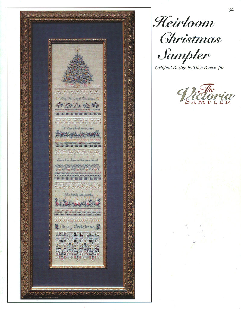 The Victoria Sampler - Heirloom Christmas Sampler Leaflet  - needlework design company