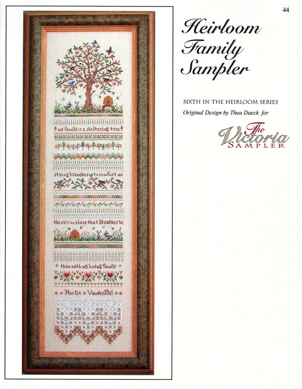 Heirloom Family Sampler Leaflet