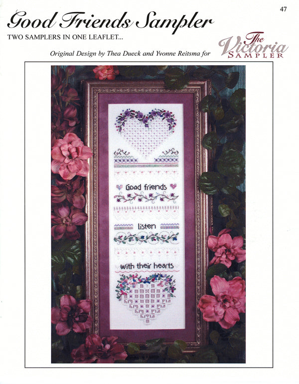 The Victoria Sampler - Good Friends Sampler Leaflet  - needlework design company