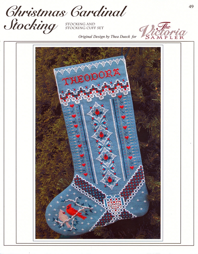 Christmas Cardinal Stocking Leaflet