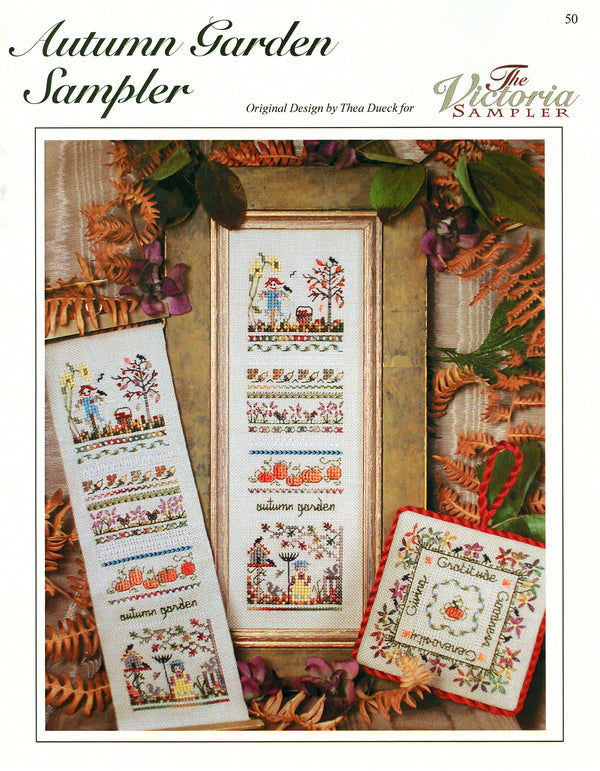 Autumn Garden Sampler Leaflet - Part Eight - Victorian Garden Series