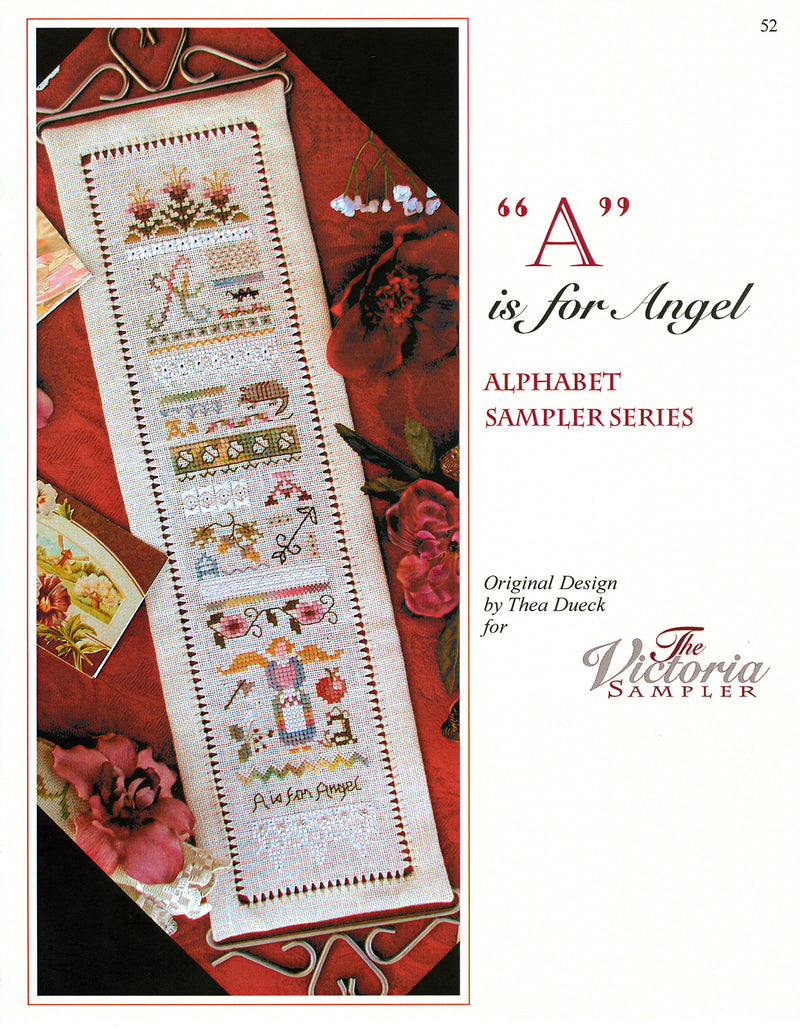 A is for Angel Alphabet Sampler Leaflet