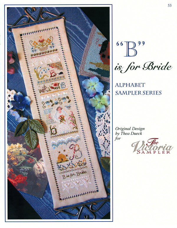 B is for Bride Alphabet Sampler Leaflet