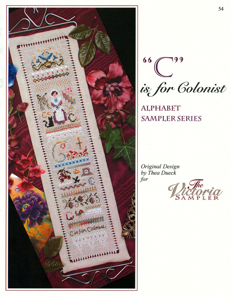 C is for Colonist Alphabet Sampler Leaflet - Part 3 of 24