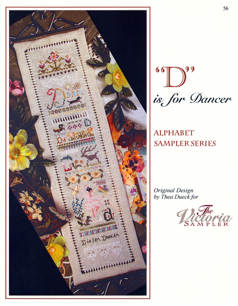 D is for Dancer Alphabet Sampler Leaflet - Part 4 of 24